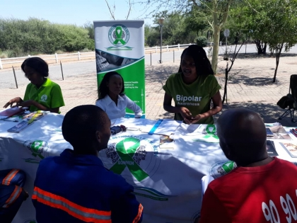 Our team delivering Mental Health talks  during Morupule Coal Mine wellness day
