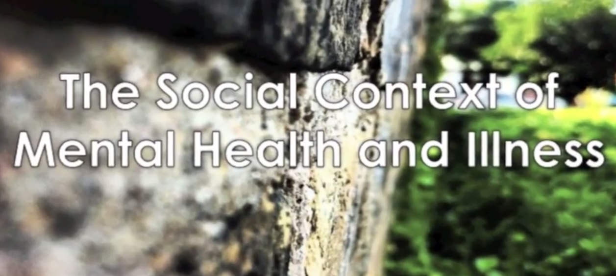 social context of mental health Introduction a growing area in sociology investigates the social causes and consequences of mental health and illness the social causes of mental illness have included disadvantaged social statuses and stress.